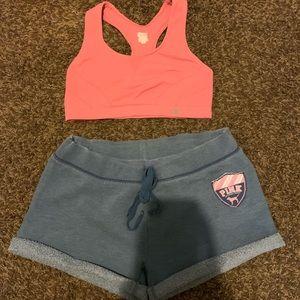 Champion bra size medium/vs shorts